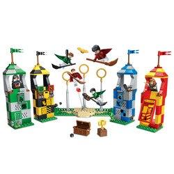 39147 536 шт. фигурки 75956 кирпичные игрушки для детей Harri Potter Magic Quidditchs Match модель совместима с Legoings 11004