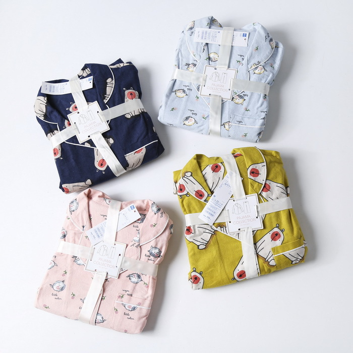 A Generation Cost-Style! Soft Adorable Cartoon Printed Long Sleeve Tracksuit Pajamas Suit Entities