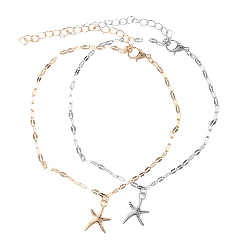 SexeMara Star Female Anklets Barefoot Sandals Foot Jewelry Leg New Anklets On Foot Ankle Bracelets For Women Leg Chain Gift
