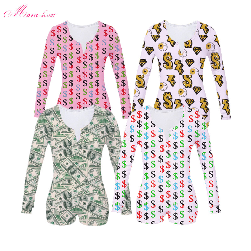 V Neck Bodycon Stretchy Backwoods Cookies Money Leopard  Onesie Shorts Rompers Adult Onesie Pajamas For Women