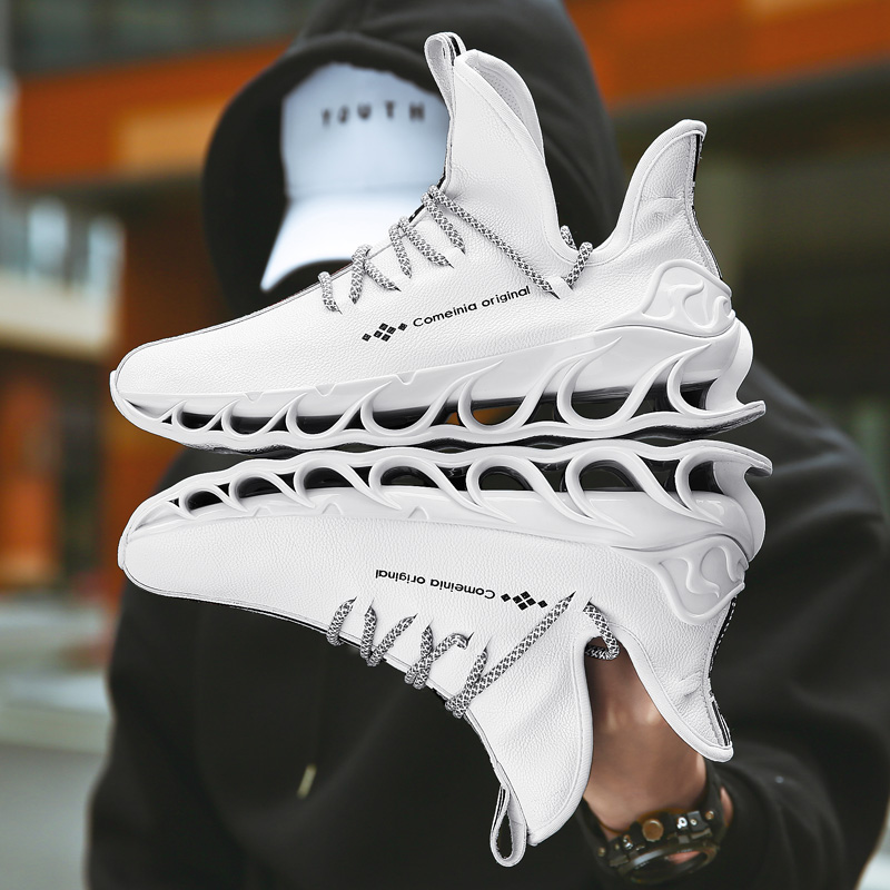 2020 Autumn Blade Running Shoes for Men Antiskid Damping Cool Outsole Walking Trekking Leisure Mesh Running Zapatills Sneakers