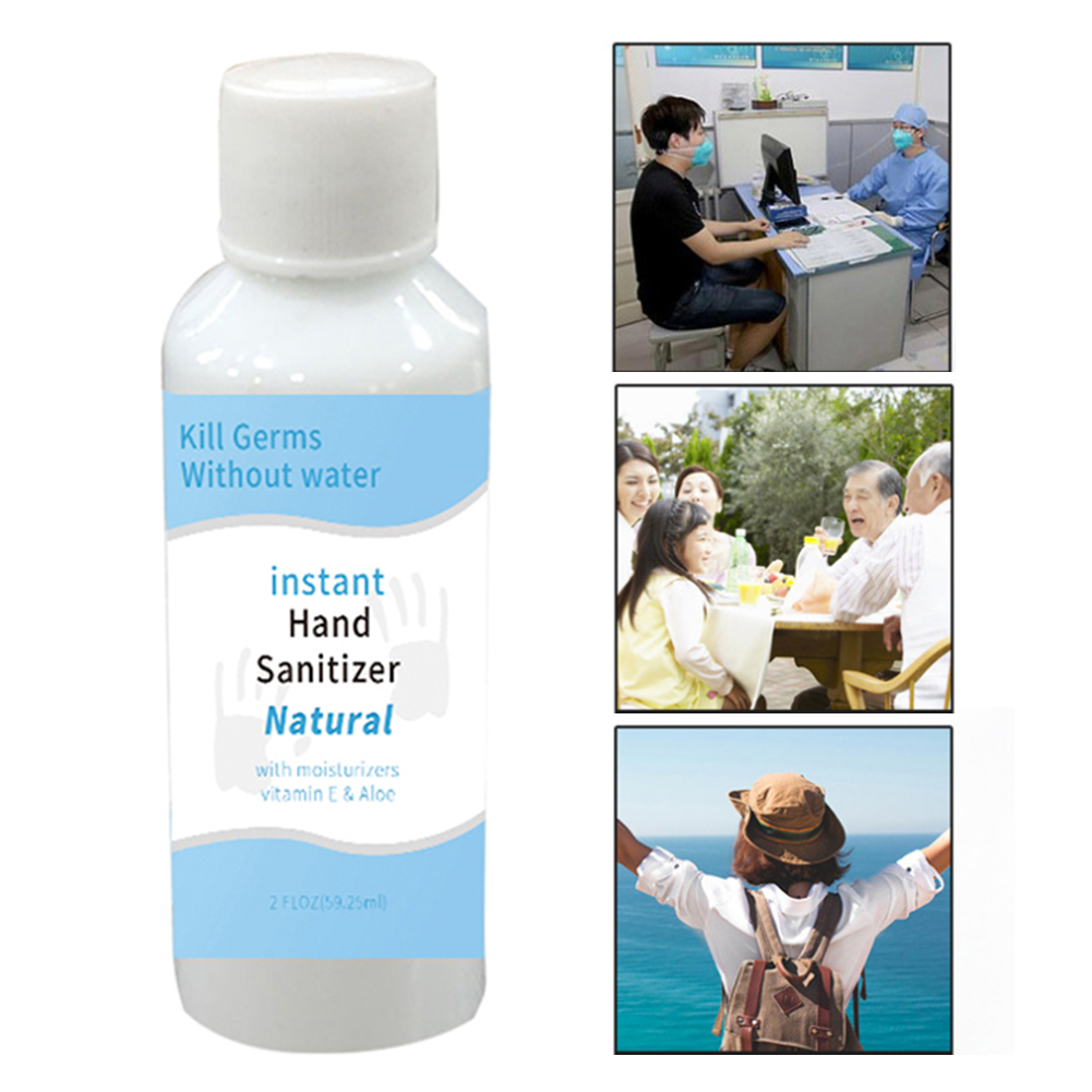 50ml Portable Wash-free Antibacterial Hand Sanitizer 85% Alcohol Sterilization Disinfectant Gel Portable Quick-drying For Car