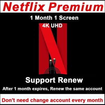 Netflix premium 1 miesiąc 1 ekran wsparcie netflix odnów czas życia hiszpania grecka francja italiano global 4K ultra hd tanie i dobre opinie uorange CN (pochodzenie) Brak w zestawie Wysokiej rozdzielczości Tv stick NI-R 1080 p (full hd) Can not support (by yourself)