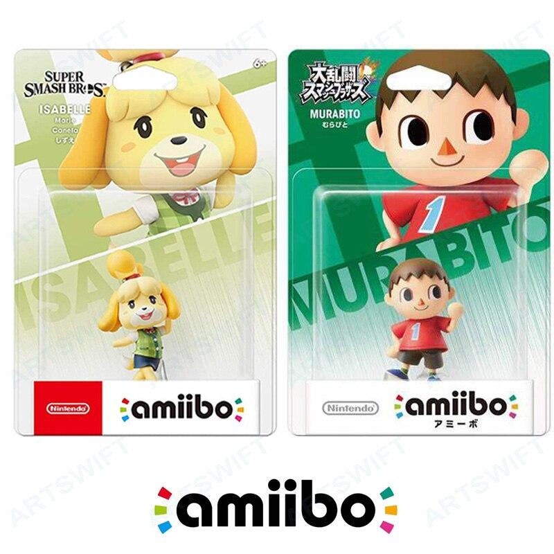 Фигурка героя амиибо для Nintendo Switch, Изабель вилагер, перекрестное суперразбивание животных для NS Wii U 3DS