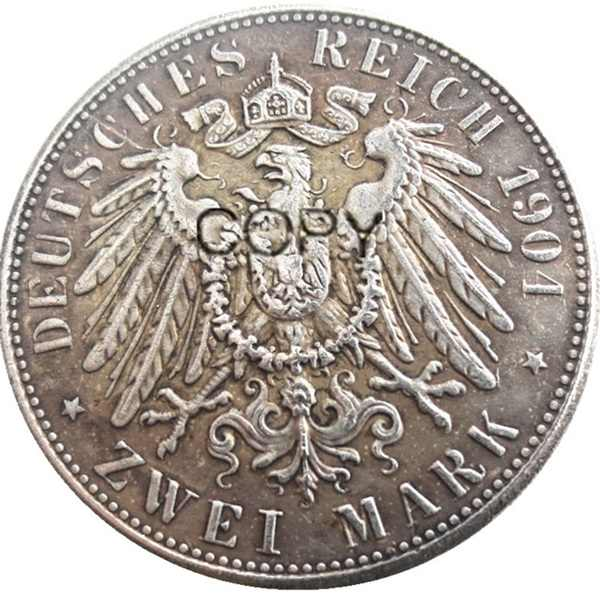 גרמניה בוואריה 2 סימן 1904 כסף מצופה עותק דקורטיבי מטבעות