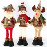 Домашние рождественские украшения куклы Санта Клаус Лось снеговик украшения окна рождественские принадлежности