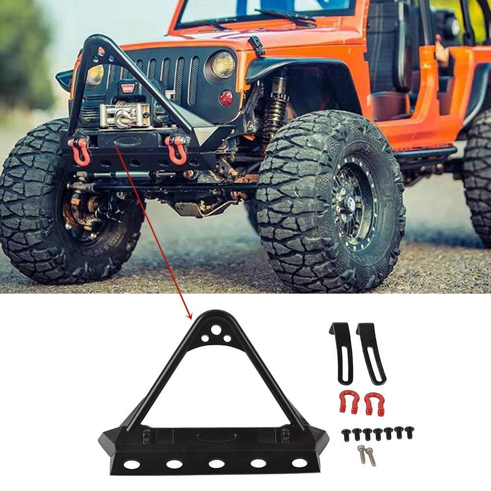 CNC Aluminum Front Bumper w// LED Light For Axial SCX10 RC 1//10 Crawler Truck