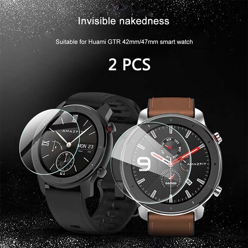 FIFATA Glass Tempered Film For Xiaomi Amazfit GTR 47/42MM HD Clear Glass Film Full Cover Screen For Amazfit GTR Smart Watch
