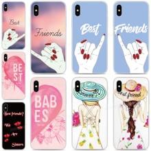 цена на DIY Custom Photo Cover BFF Best Friend Cases For ASUS-ZenFone Max Pro M1 Rog Phone 2 6 5 5Z 4 Lite L1 Shot Plus M2 Phone Case
