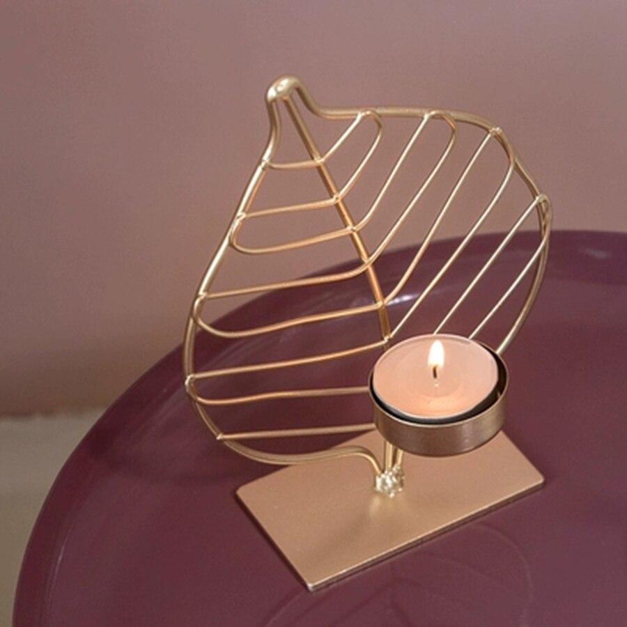 Bougeoir géométrique mariage fer métal photophore bougeoirs or votif Artigos Para Festa bougies décoration de la maison BZT554