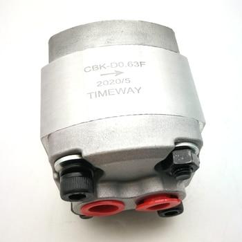 Hydraulic gear oil pump CBK-D0.63F CBK-D2.1F  CBK-D2.6F high pressure pump 20Mpa anticlockwise rear in rear out high pressure gear oil pump cbt e316 hl constant flow hydraulic pump