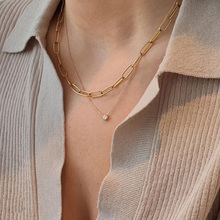 2020 Hot Single Item Tarnish Free 18k Gold Plated Stainless Steel Minimalism Link Chain Necklaces For Women Ladies Chains