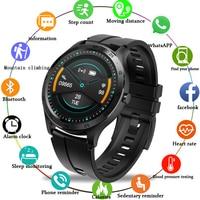 Lige novo luxo led 1.28 tft tft tft tela cheia touch men relógios inteligentes à prova dwaterproof água esporte para iphone android smartwatch para homens