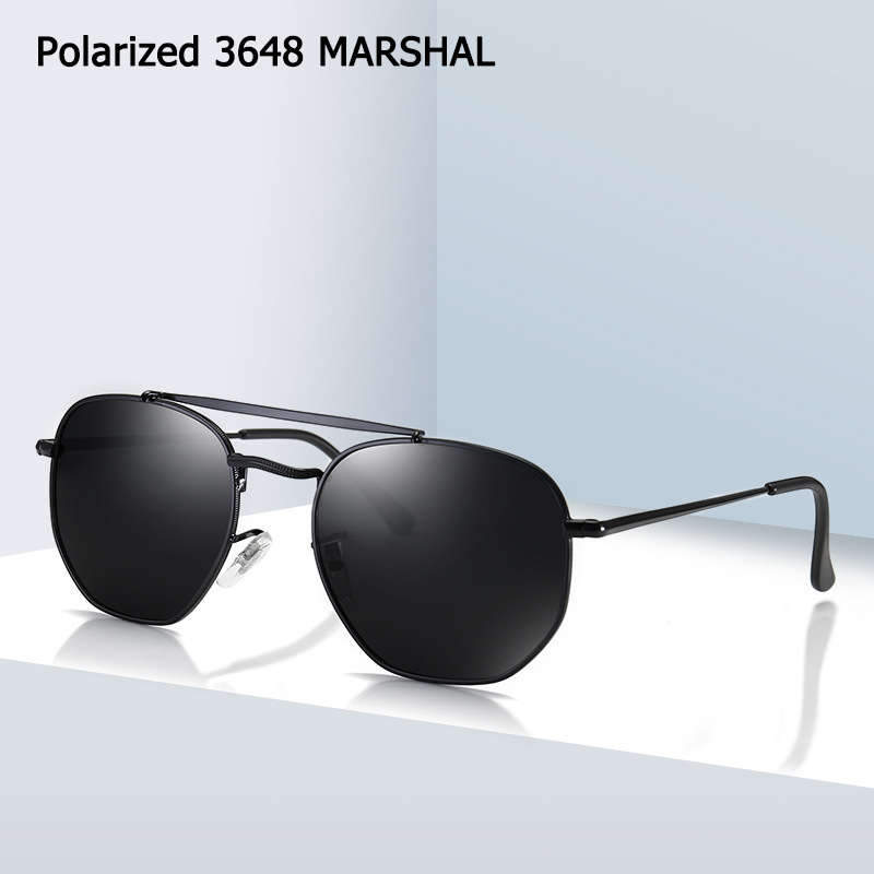 JackJad 2020 Classic Vinatge 3648 MARSHAL Style Polarized Sunglasses Men Polygon Metal Brand Design Sun Glasses Oculos De Sol