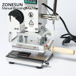 Image 3 - ZONESUN New ZS 100 Dual Purpose Hot Foil Stamping Machine Manual Bronzing Machine For Pvc Card Leather Paper Stamping Machine