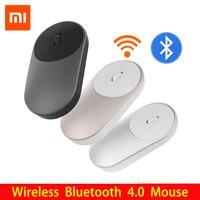 원래 Xiaomi Mi 무선 마우스 휴대용 게임 Mouses 2.4GHz WiFi 블루투스 4.0 제어 연결 알루미늄 합금 ABS 소재