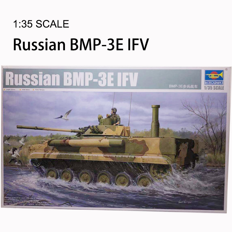 Trumpeter 1:35 Russian BMP-3E Infantry Chariot Plastic Assembled Static Military Model