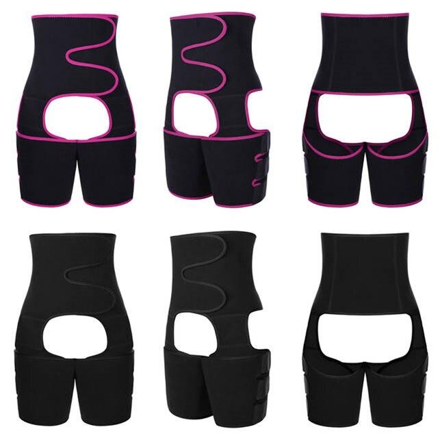 Neoprene Slim Thigh Trimmer Leg Shapers Slimming Belt Waist Trainer Sweat Shapewear Fat Burning Compress Belt 3