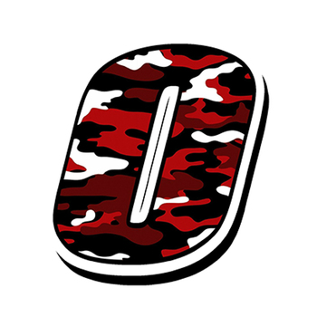 Car Styling Racing Numbers PVC Camouflage Red Car Sticker Motocross Auto Bike Waterproof Accessories 10cm*13cm image