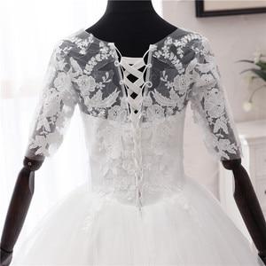 Image 5 - Einfache OFF White Süße Hochzeit Kleid Zarte Stickerei Appliques Oansatz Braut Kleid Ballkleid Billig Plus Größe Vestido De Noiva
