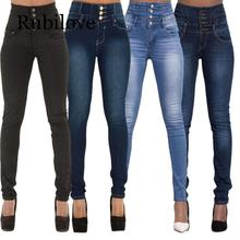 Rubilove New Spring Summer Woman skinny jeans Denim Pencil Pants Top Brand Stretch Jeans High Waist Women
