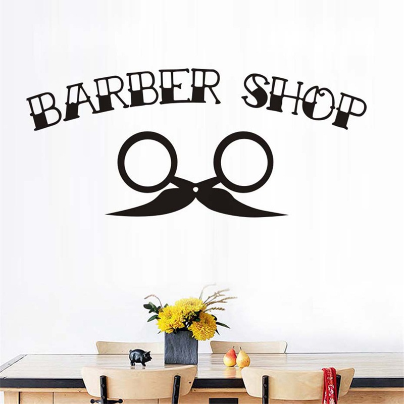 Classic Barber Shop Vinyl Wall Sticker Murals Window decals Removable