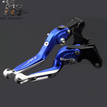 Brake Clutch Lever For YAMAHA YZFR1 YZF-R1 2002-2003 Blue+Silver Motorcycle Adjustable Folding Extendable Logo YZF R1 for yamaha yzfr1 yzf r1 2002 2003 blue silver motorcycle adjustable folding extendable brake clutch lever logo yzf r1