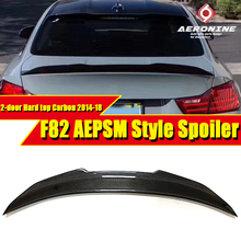 купить For BMW F82 M4 PSM Style Convertible Coupe Carbon Fiber Rear Trunk Spoiler Tail Wing 420i 428i 430i Car styling Accessories 14+ дешево