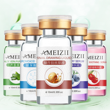10ml Snail Essence Anti-Aging Hyaluronic Acid Face Serum Moisturizing Whitening Shrink Pores Firming Face Skincare TSLM1 1