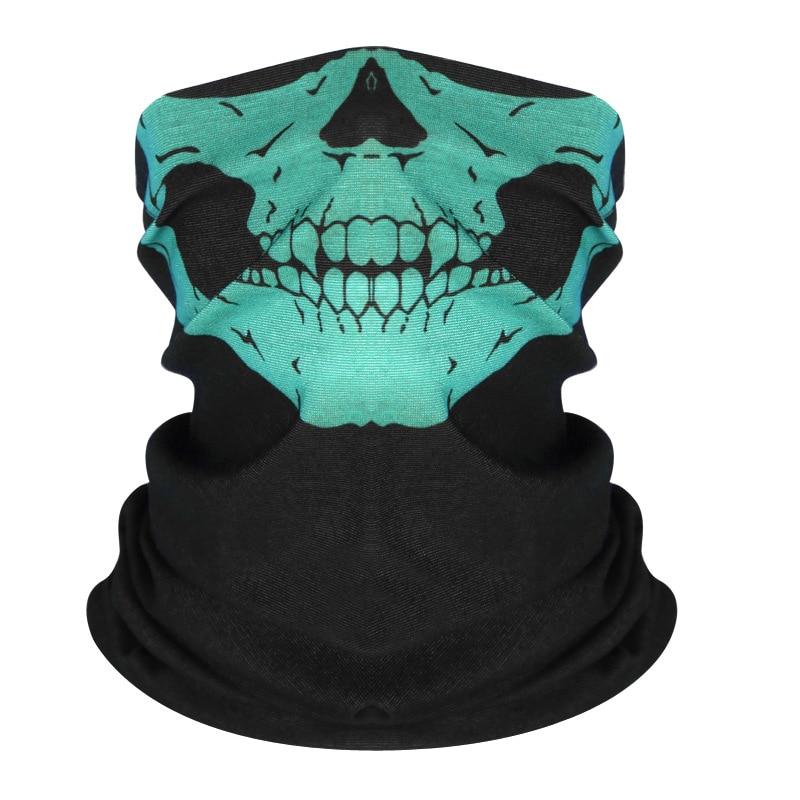 High Elastic 3D Seamless Bandana Skull Cycling Women Headwear Joker V Vendetta Face Mask Ski Hiking Magic Bandana Buff Balaclava