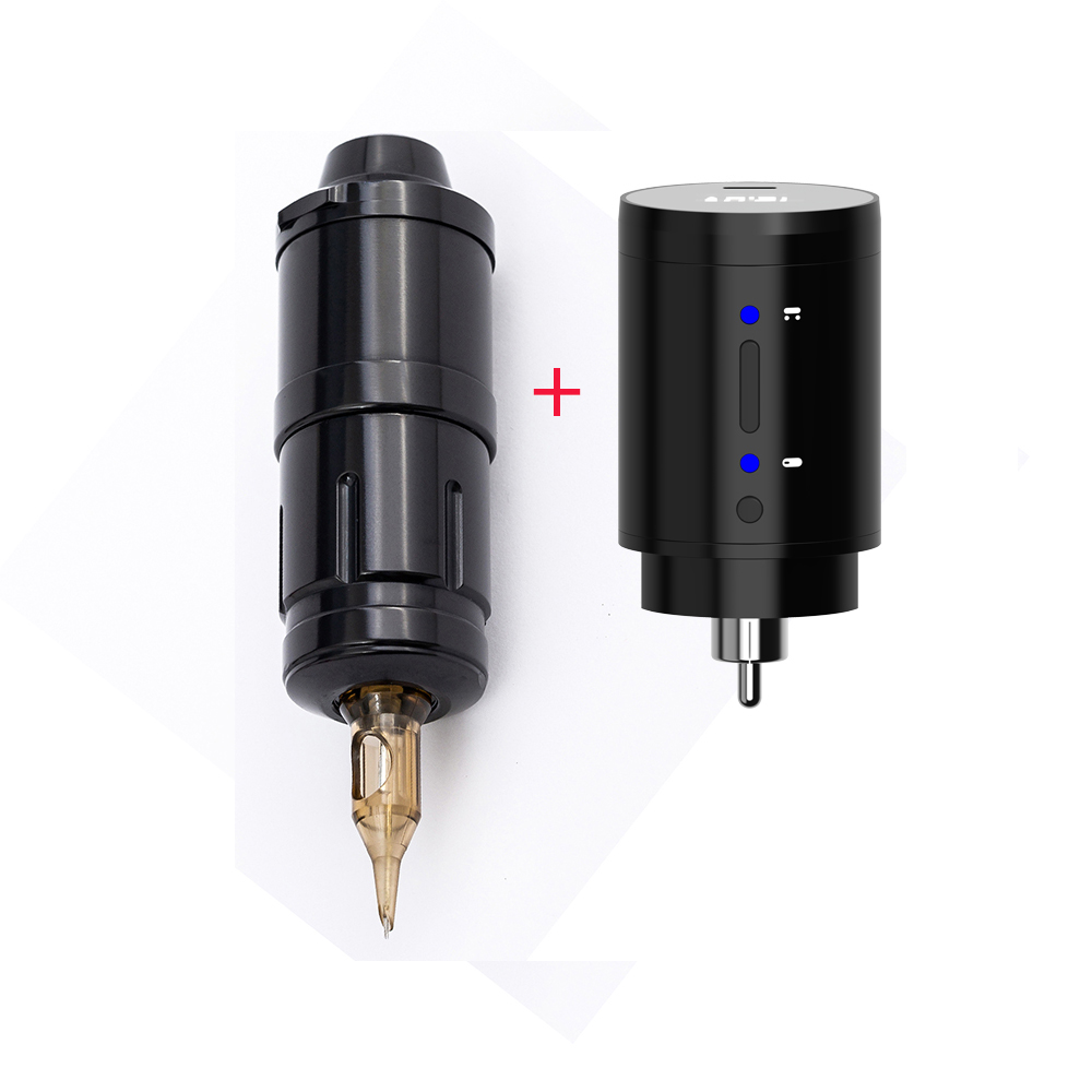 Storm Wand Short Tattoo Pen Machine Coreless Motor Liner shade color With Wireless Battery Power Supply RCA
