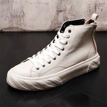 цена на Men Casual Shoes Leather Shoes Men Spring Autumn Fashion Men Boots Fashion New Casual Leather Boots Genuine Leather Men Shoes