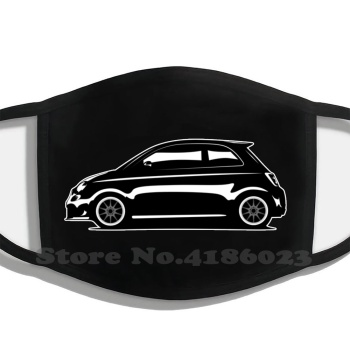 500/595 Artwork Men Women Washable Black Masks Fiat Fiat 500 Fiat 500E Fiat 500 Abarth Fiat 595 Fiat 695 Abarth 595 Competizion image