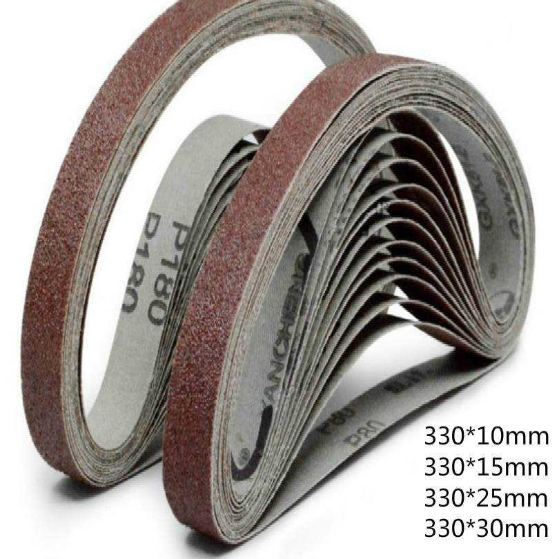 330*10MM 330*15MM 330*25MM 330*30MM Sandpaper Belt Sand Paper Belt Sanding Pad Sandpaper For Grinder Wheel Belts 40-600mesh