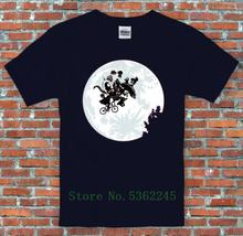 E.T Bike Alien Kodos Yoda Metroid Alf Nibbler Space Invader Mashup T Shirt Cartoon T Shirt Men Fashion New Unisex Tshirt Loose(China)