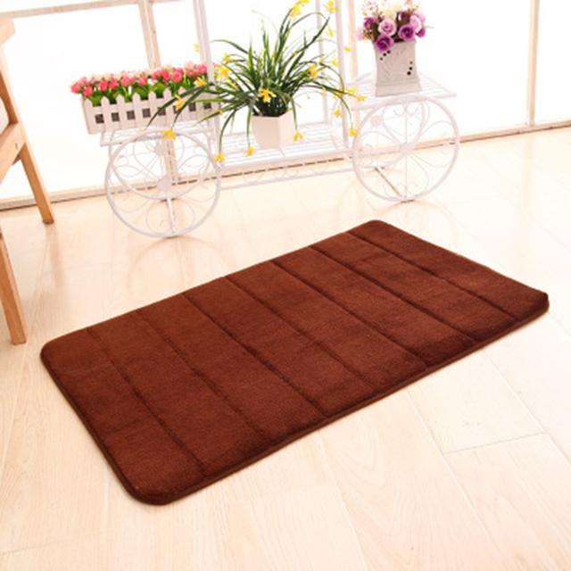 Useful 40 * 60cm bath mat bathroom horizontal stripes absorbent mat non-slip bathroom mats bathroom carp bath mats bathroom