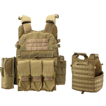 Military Army Combat Training Body Armor 6094 Tactical Equipment Molle Vest Airsoft Hunting Camouflage Vest Armor Vest