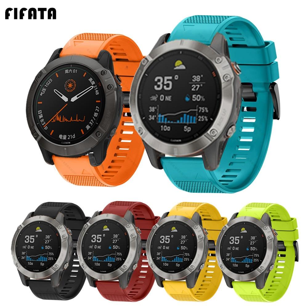 Fifata pulseiras de relógio inteligente para garmin fenix 6 6s 6x 5x 5 5S 3 3hr forerunner 935 945 liberação rápida pulseira de silicone