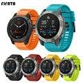 Ремешок для смарт-часов FIFATA, ремешок для Garmin Fenix 6 6S 6X 5X 5 5S 3 3HR Forerunner 935 945, быстросъемный силиконовый браслет
