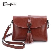 Натуральная кожа женская сумка через плечо кисточкой женская сумка через плечо 2019 модная сумка небольшая откидная створка сумки для леди