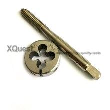 HSSE Metric screw Hand tap Split Die set M6 M6X1.25 M6X1 cienki gwint okrągły umiera krany M6X0.75 M6X0.5 dla stali nierdzewnej