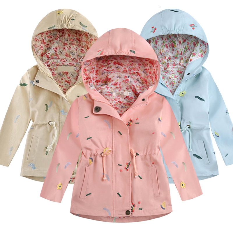 Infant Kids Girls Winter Button Coat Hooded Cotton Dust Outerwear Fashion Jacket