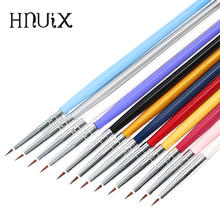12 Pieces / Set Colorful Nail Art Liner Thin Painting Brush Design Acrylic Pointing Pen Fine Tips Drawing Lines Flower Tool Mani