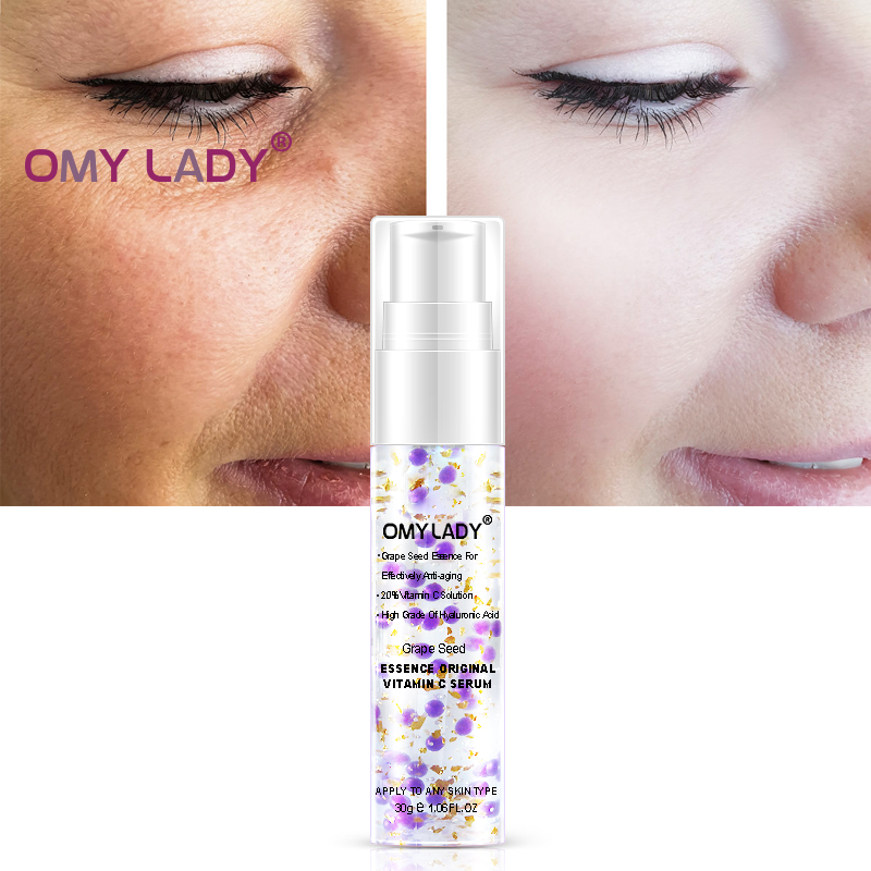 OMY LADY GrapeSeed Face Serum Vitamin C Whitening and moisturizing Essence Deep hydration Firm skin anti-aging cream care