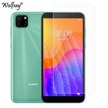 Перейти на Алиэкспресс и купить Закаленное стекло для Huawei Y5p, 2 шт., Защита экрана для Huawei Y5p Y6p Y7p Y9S, Защитное стекло для Huawei Y5p Y5 P, пленка