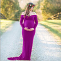Платье для беременных фотография Реквизит богемное платье с длинными рукавами для беременных Платья для фотосессии Vestidos