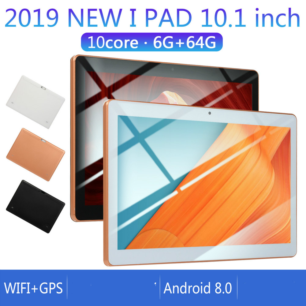 2020 NEW 10 Inch Tablet Pc Octa Core Android 8.0 6GB RAM 64GB ROM IPS Dual SIM Phone Call Tab Phone Pc Tablets