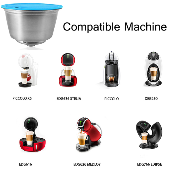 For Dolce Gusto Refillable Coffee Capsule Coffee Reusable Stainless Steel Coffee Machine Accessories