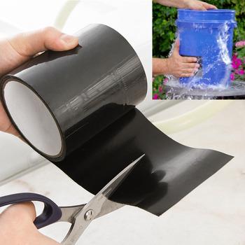 Super silny wodoodporna taśma Stop przecieki uszczelka taśma naprawcza wydajność Self Fix taśma klejąca taśma izolacyjna tanie i dobre opinie CN (pochodzenie) Seal Repair Tape Black 100mm 0 5mm 20mil 800 Volts -60 C to 260 C up to 5 bar