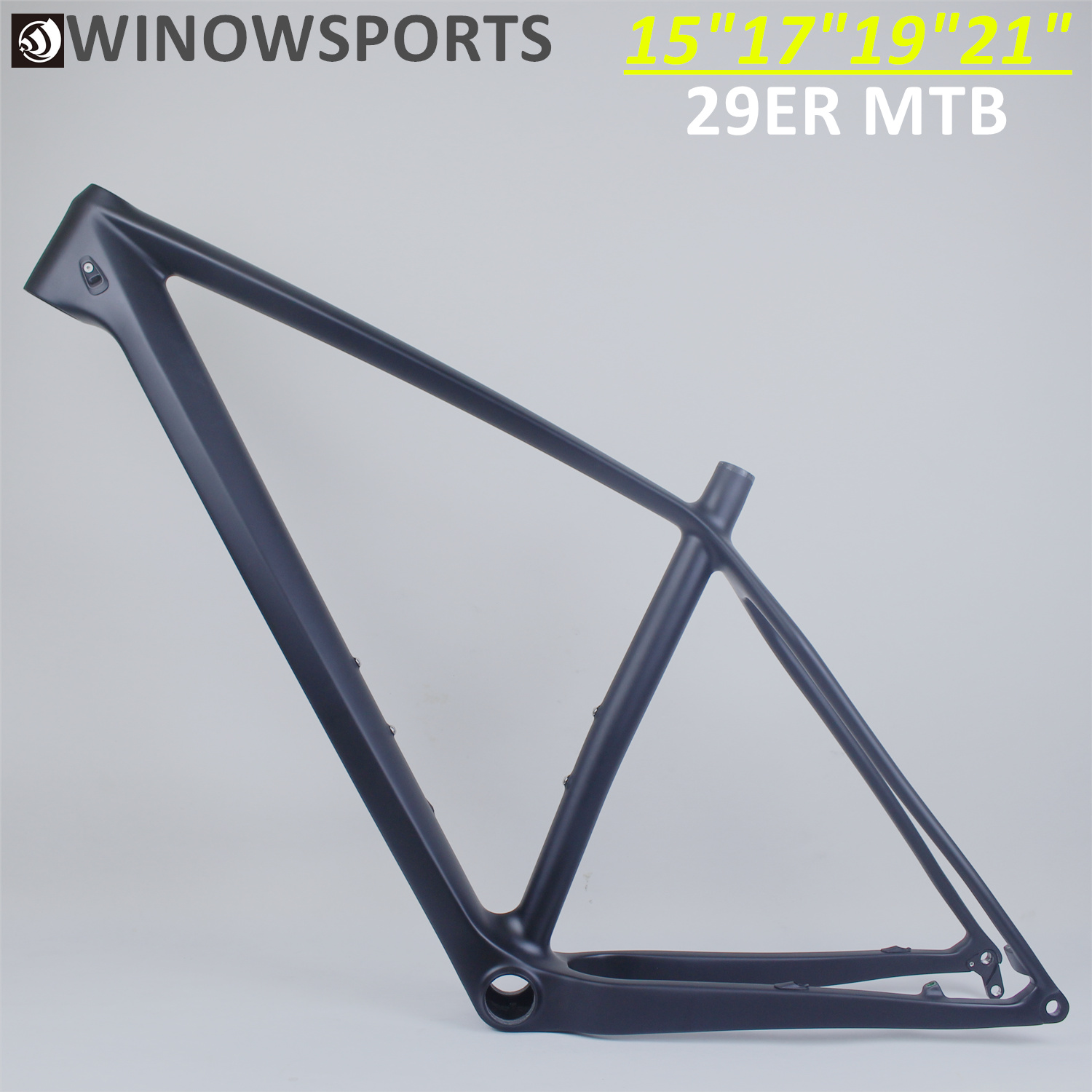 Winowsports 2020 chinês barato duro cauda de carbono mountain bike quadro 142*12mm/148*12mm 29er impulso mtb 15 17 19 21